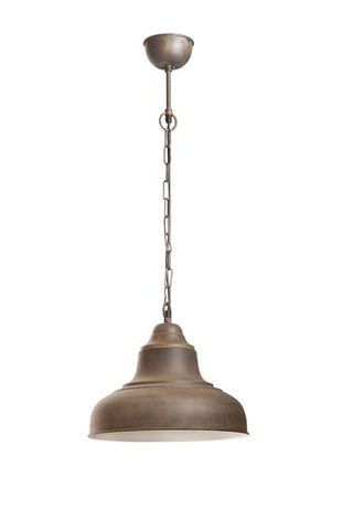 Brasserie Overhead Small Pendant - Rust, White, or Black