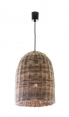 Wicker Bell Hanging Lamp - Small or Large