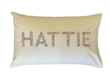 Pillowcase Personalised with a Name Appliqué - Liberty Lawn