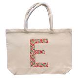 Tote Bag Personalised with One Big Letter - Liberty Print Name Appliqué
