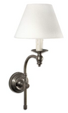 Soho Curved Sconce Base - Antique Silver