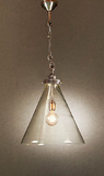 Gadsden Glass Hanging Lamp in Silver - Small, Medium or Large