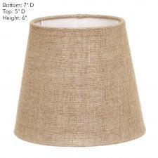 Dark Natural Linen Lamp Shades - Various Sizes