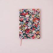 Liberty lawn covered A5 notebook - Thorpe C (Multicoloured on Navy )