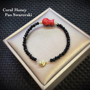 Coral Money Pao Swarovski