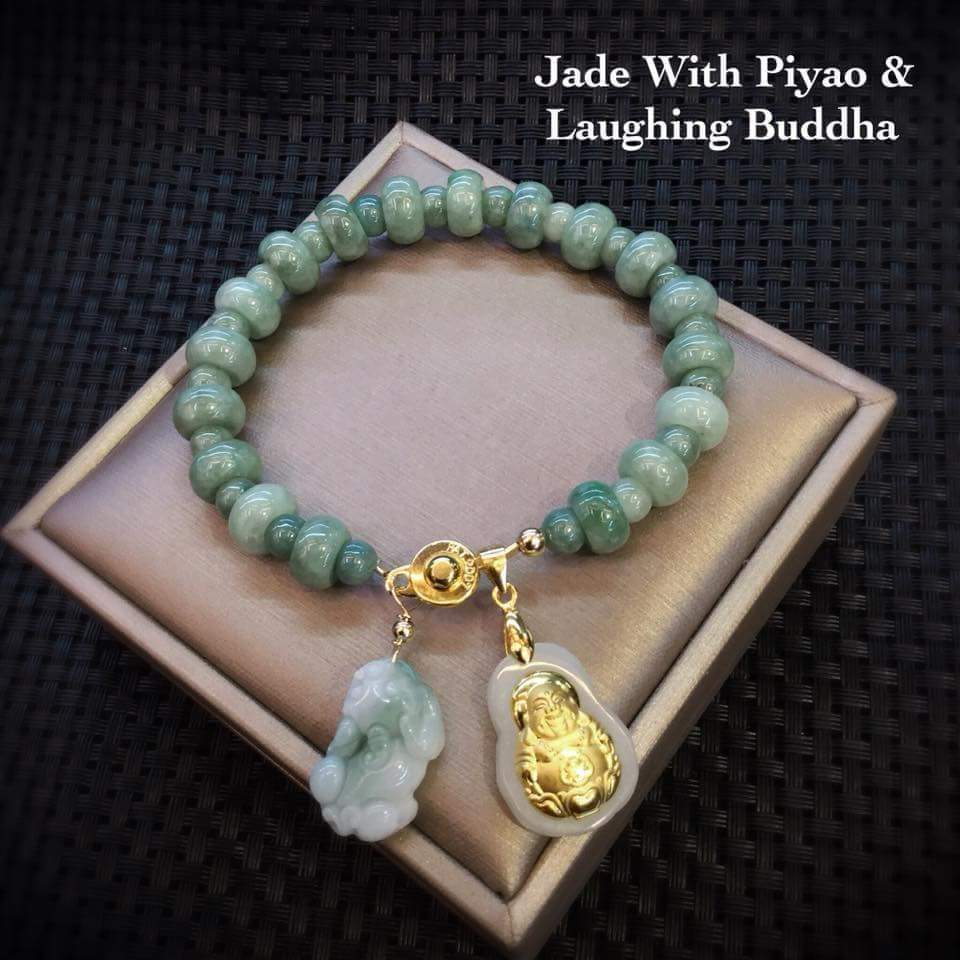 Jade with PIYAO and Laughing BUDDHA