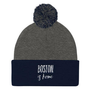 Boston Is Home - Pom Pom Knit Cap