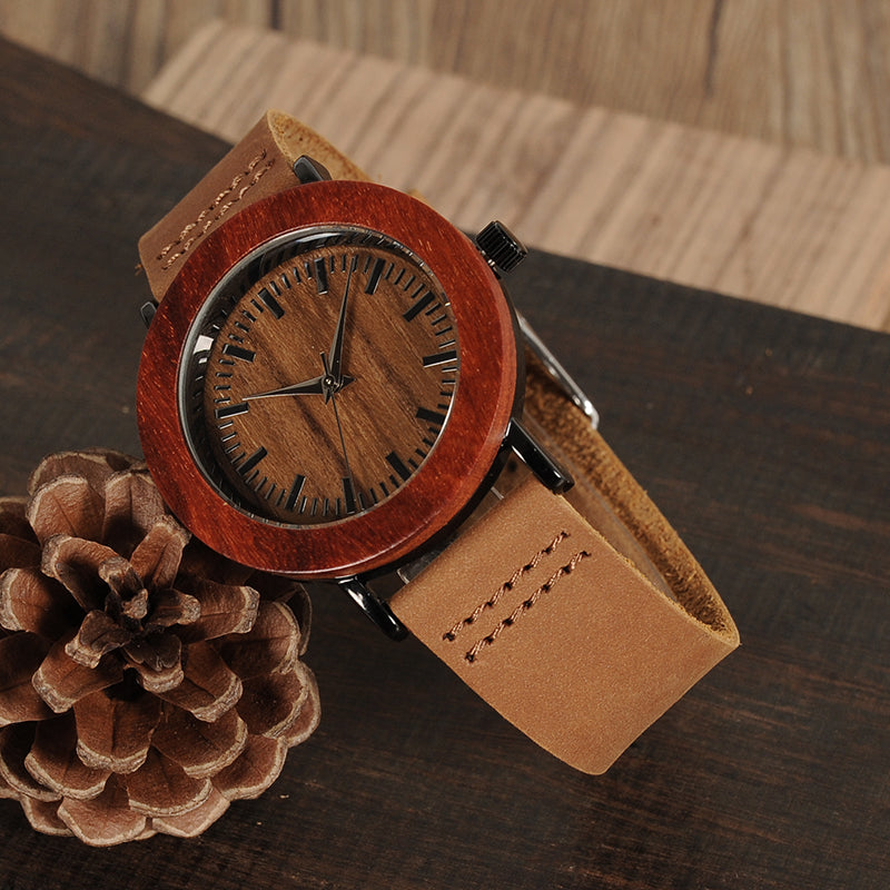 WOOD WATCH BAND LEATHER