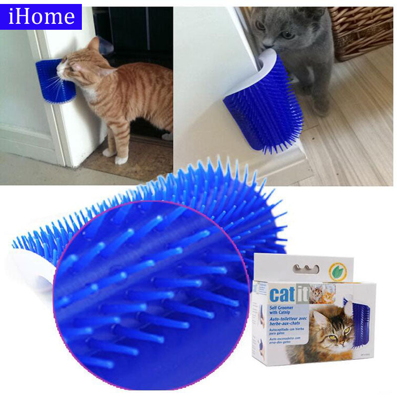 SOFT PLASTIC RUBBING BRUSH FOR PLAYFUL CATS