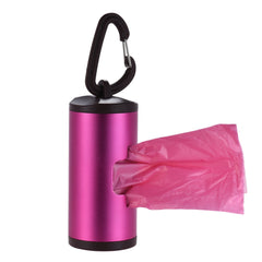 COLORFUL ALUMINUM TUBE DOG WASTE DISPENSER WITH 15 BAGS