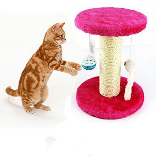 PINE-WOOD CLIMBING TREE / SCRATCHING POST FOR CATS