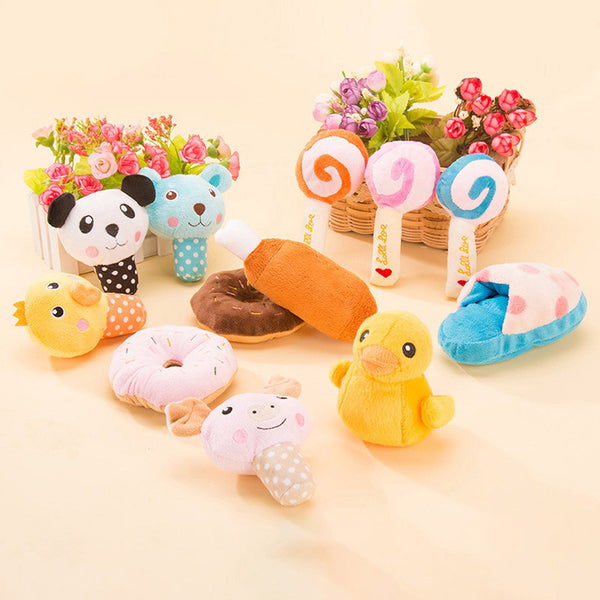 COLORFUL SOFT PET TOYS