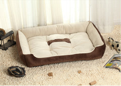 ECO-FRIENDLY WASHABLE DOG BED WITH WATERPROOF BOTTOM
