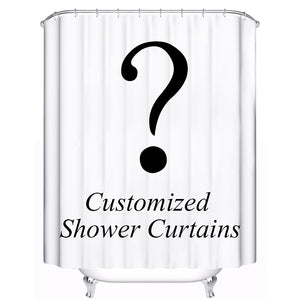 Customized Personalized Shower Curtain Waterproof Polyester Fabric