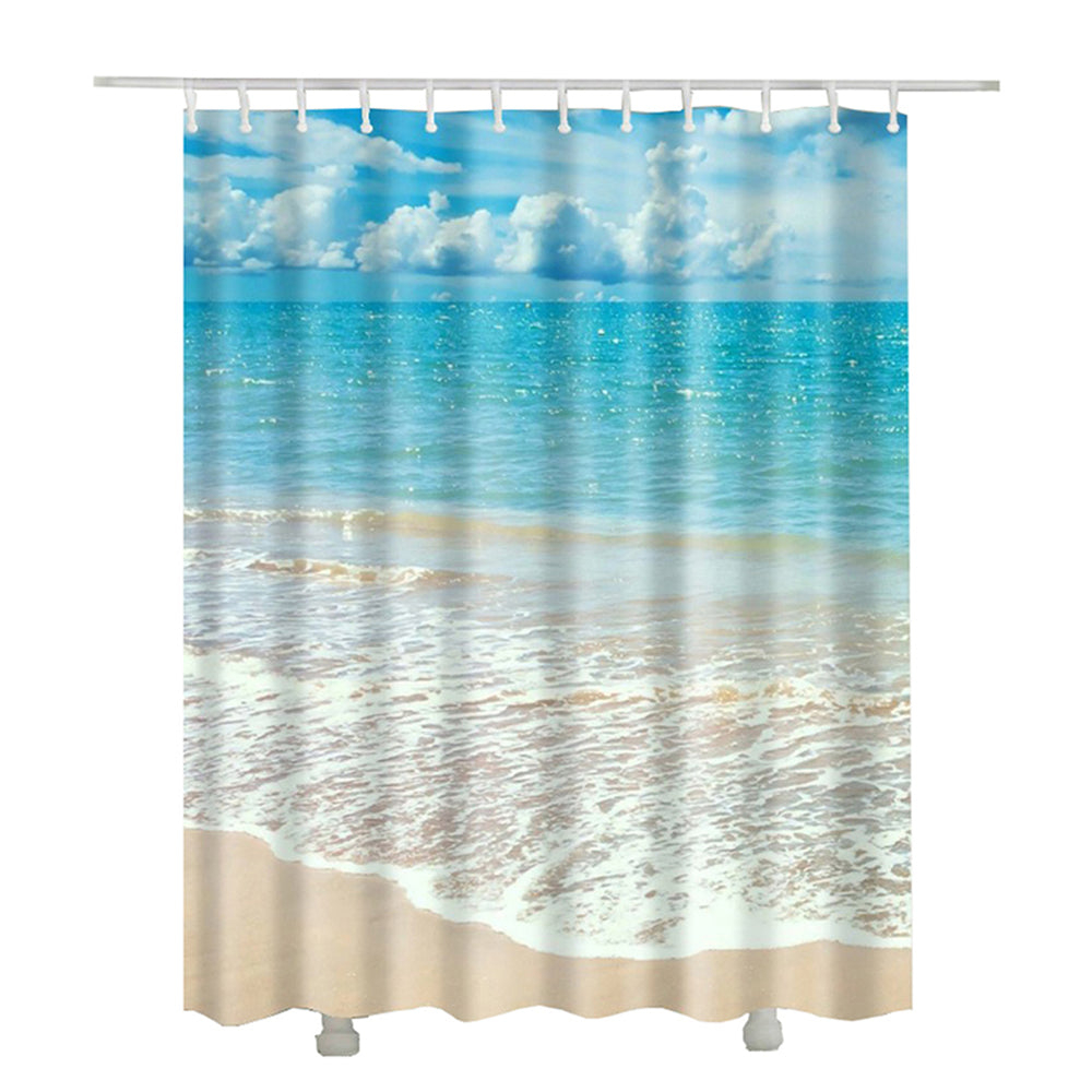 OCEAN BEACH SCENE SHOWER CURTAIN 5 VARIANTS