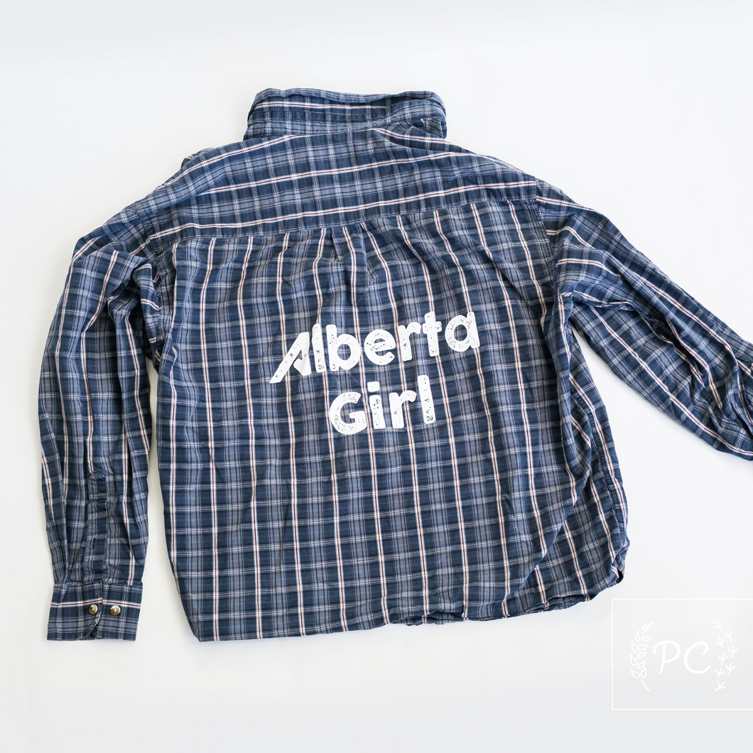 Vintage Button Down | Alberta Girl - Men's L | 12