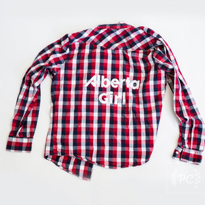Vintage Button Down | Alberta Girl - Men's L | 4