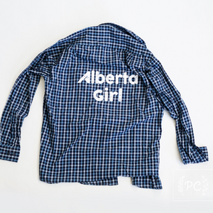 Vintage Button Down | Alberta Girl - Men's L | 6