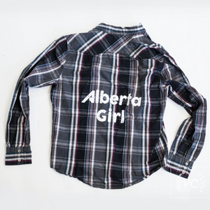 Vintage Button Down | Alberta Girl - Men's L | 8