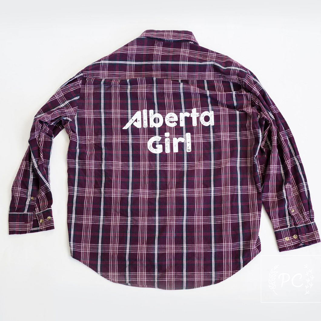 Vintage Button Down | Alberta Girl - Men's L | 9