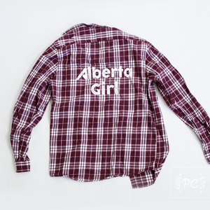 Vintage Flannel | Alberta Girl - Men's M | 2