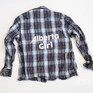 Vintage Flannel | Alberta Girl - Men's M | 5