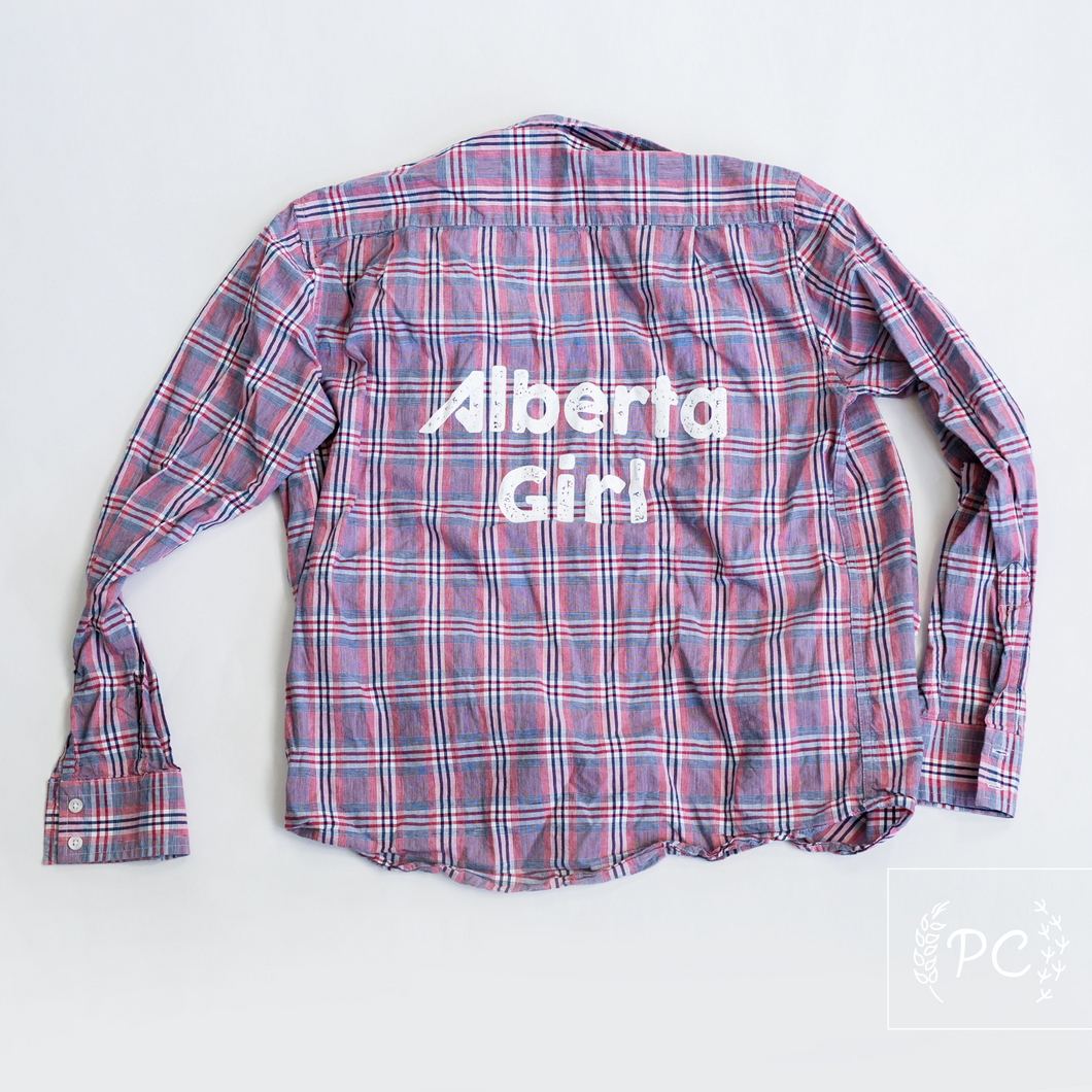 Vintage Button Down | Alberta Girl - Men's M | 6