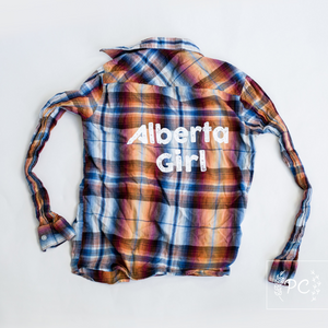 Vintage Button Down | Alberta Girl - Men's S | 2