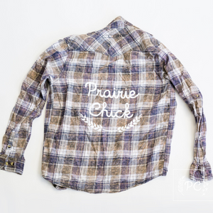 Vintage Flannel | Prairie Chick - Men's M | 4