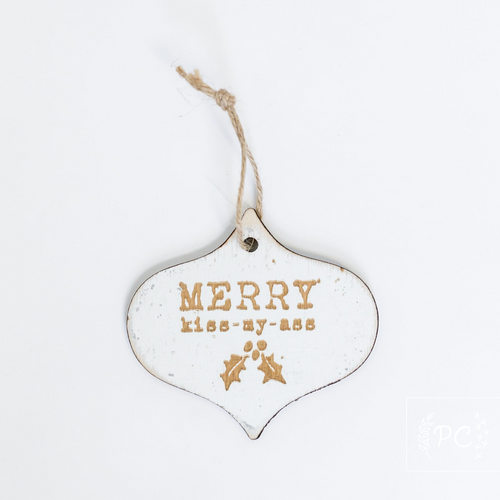 Tree Charm | Merry kiss-my-ass