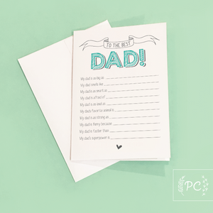 dad question card