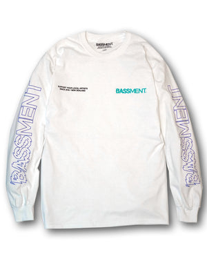 LA Long sleeve Tee White
