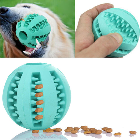 Light Green ABS Rubber Ball Dog Chew Toy Tooth Cleaning Balls
