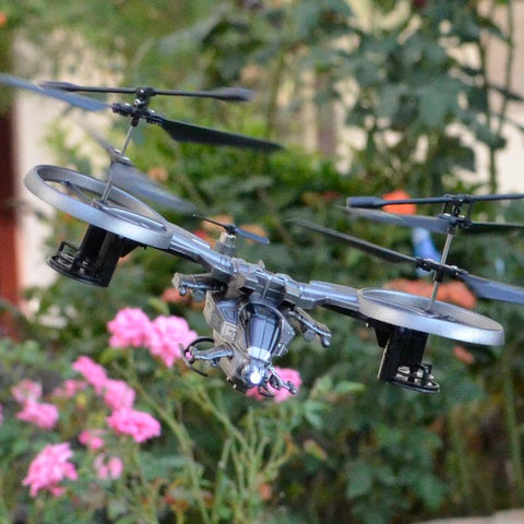 RC Fighter YD-718 4CH 2.4Ghz Unique RC Helicopter Avatar Serices Aircraft with double blades