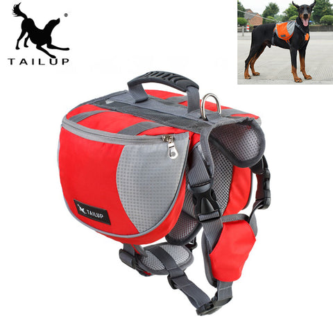 [TAILUP] Dog Harness Pet Vest Outdoor Backpack