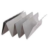 8 Plates Wind Screen For Camping Stove Outdoor Foldable Cooking Aluminum Gas Stove Wind Shield Screens Silver