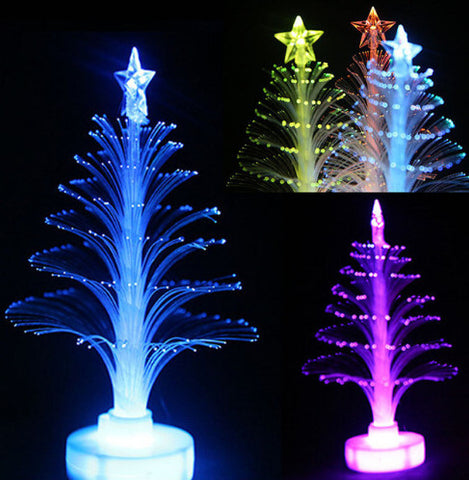 Romantic Christmas Tree LED Night Light Multi-color Desk Lamp for Christmas Wedding Holiday Decoration Bedroom Decor Lamp