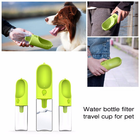 Portable Size 400ML Pet Dog Fedding Bottle Food Grade Plastic Outdoor Travel Pet Dog Cat Drinking Water Bottle Tool