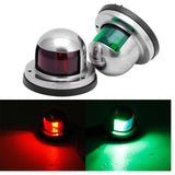 2X Stainless Steel Marine Boat 12V LED Navigation Lights