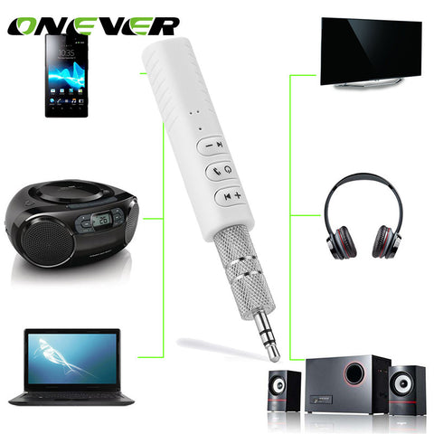 Onever Wireless Bluetooth Aux Audio Receiver Adapter 4.2 Bluetooth Handsfree Car Kit 3.5mm jack Aux Hands Free Music Receiver