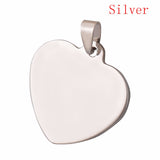 10 pcs 33x34mm Heart 4 Colors Unisex Stainless Steel Stamping Blank ID Dog Tags