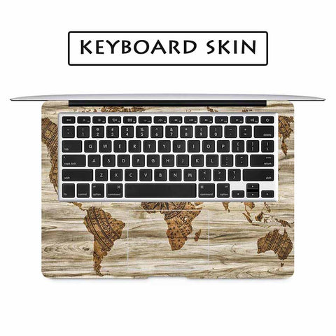 Wood world map laptop full cover skin for apple macbook air pro wood world map laptop full cover skin for apple macbook air pro retina 11 12 13 gumiabroncs Choice Image