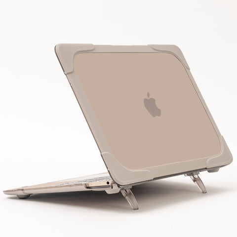 GOOYIYO - High Quality Laptop Case Hard Plastic PC Matte Cover Riser Stand Shell Khaki For New Macbook Retina 12 Computer Cases