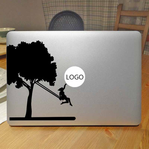 Swing Girl Funny Decal Laptop Sticker for Apple Macbook Pro Decal Air Retina 11 12 13 15 inch Mac Surface Notebook Skin Stickers
