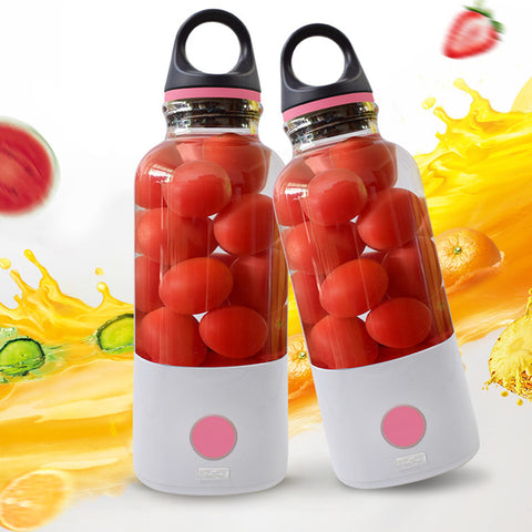 Hoomall 600ml Electric USB Fruit Juicer Cup Portable Water Bottle Lemon Fruit Milkshake Smoothie Maker Blender Squeezers Reamer