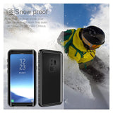 Dulcii for Samsung S9 s9+ Case IP68 Waterproof Case for Samsung Galaxy S9 Coque Funda Dirt/Dust/Snow Proof PC + TPU Hybrid Cover