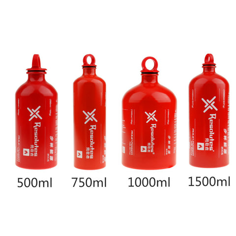 Outdoor Aluminum Alcohol Liquid Fuel Bottle 500/750/1000/1500ML Stove Gas Oil Container for Camping Hiking BBQ Picnic Cooking