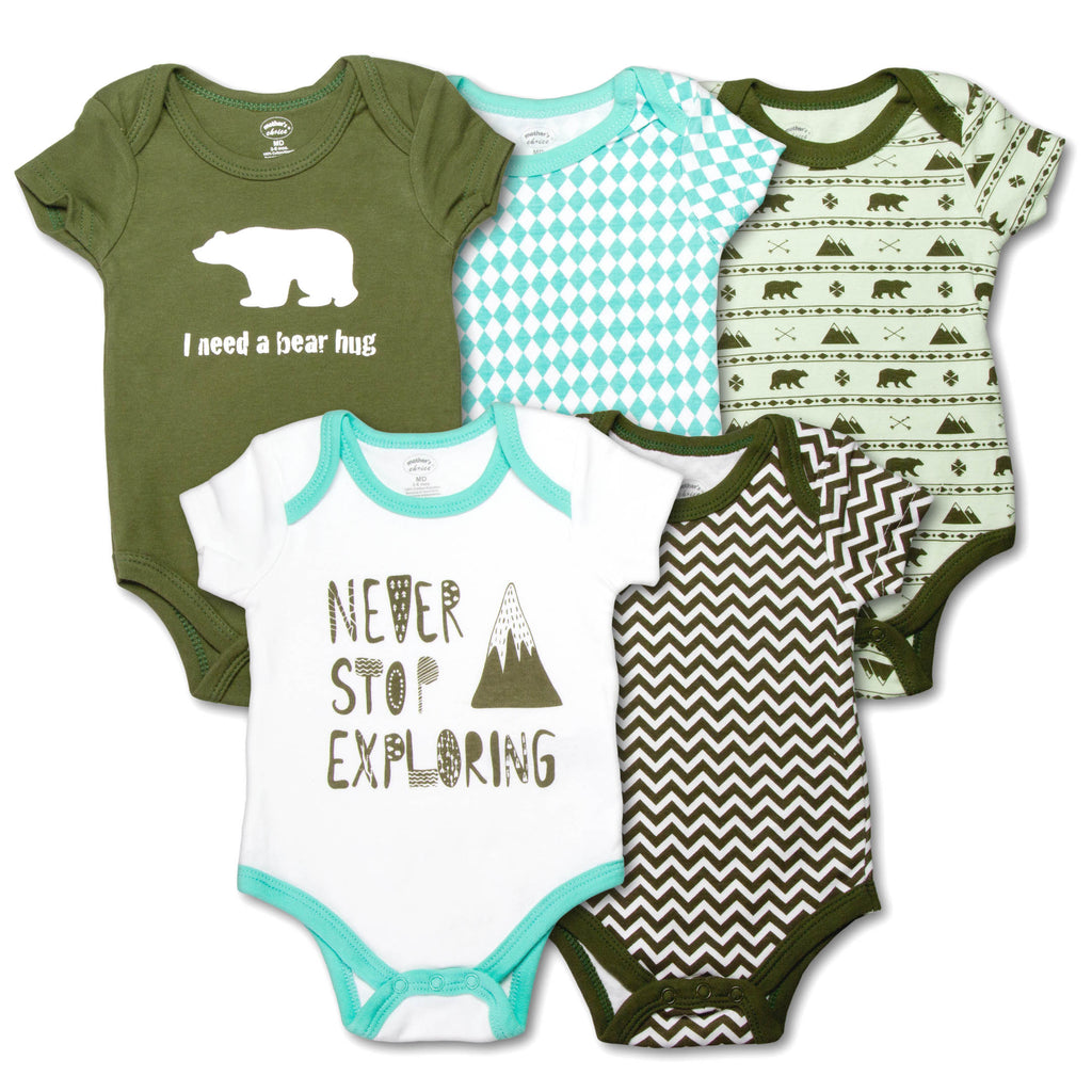 5 pack Short Sleeves Onesies