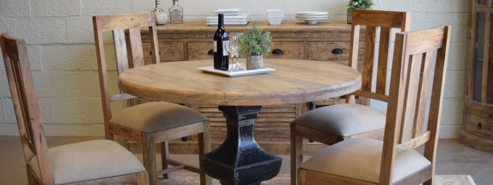 Image result for wood dining room