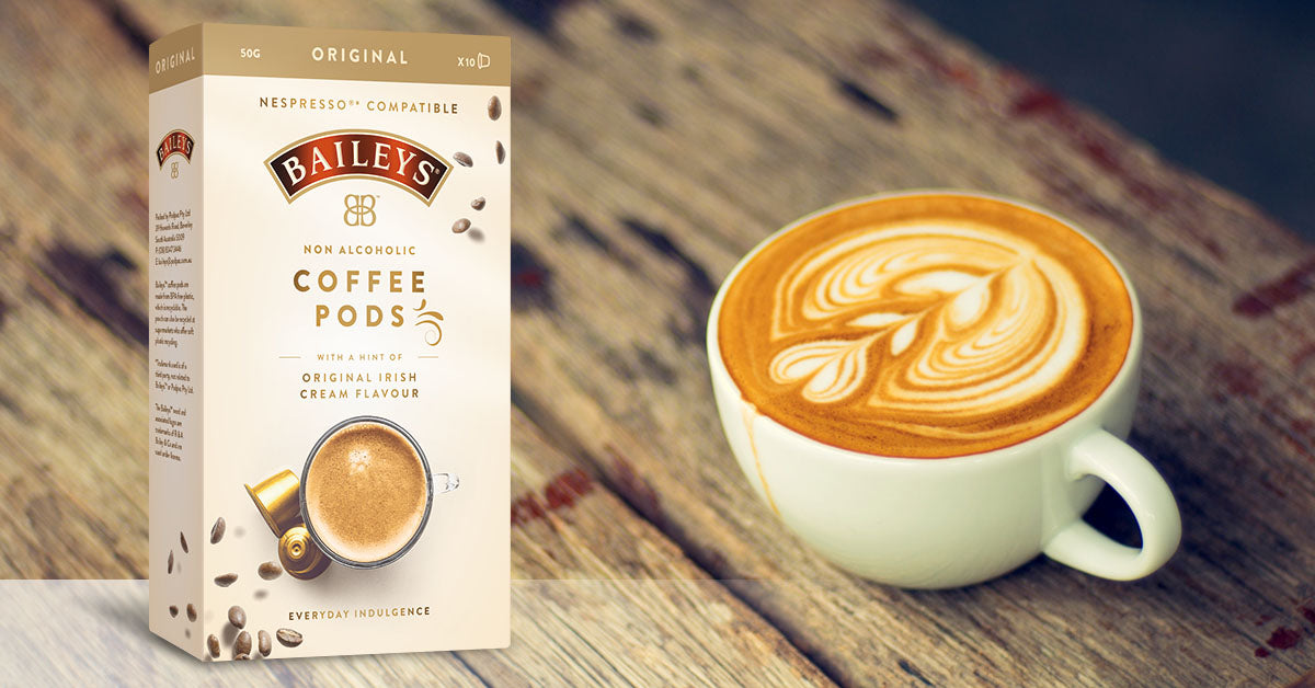Introducing the world's first Nespresso®* compatible Baileys™ infused coffee pod!